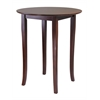 Winsome Wood Fiona Round High/Pub Table, 33.66 x 33.66 x 38.98, Antique Walnut