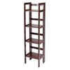 Winsome Wood Terry Folding Bookcase Antique Walnut, 14 x 11.4 x 51.34, Antique Walnut