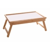 Winsome Wood Ventura Breakfast Bed Tray, 24.66 x 13.94 x 9.22, Natural And White Top