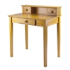 Winsome Wood Studio Writing Desk With Hutch, 30 x 20.19 x 34.65, Honey
