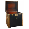 Authentic Models Stateroom Trunk End Table, Black