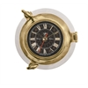 Authentic Models Porthole Clock, Aluminum