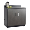 Hospitality Base Cabinet, Two Door Black/Asian Night
