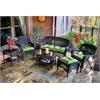 Tortuga Outdoor Portside 6Pc Seating - Dark Roast - Monti Leaf