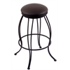 "3000 Georgian 30"" Bar Stool with Black Wrinkle Finish, Allante Espresso Seat, and 360 swivel"