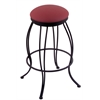 "Holland Bar Stool Co. 3000 Georgian 25"" Counter Stool with Black Wrinkle Finish, Allante Wine Seat, and 360 swivel"