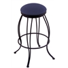 "3000 Georgian 30"" Bar Stool with Black Wrinkle Finish, Axis Denim Seat, and 360 swivel"