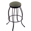 "Holland Bar Stool Co. 3000 Georgian 30"" Bar Stool with Black Wrinkle Finish, Axis Grove Seat, and 360 swivel"