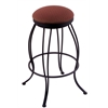 "Holland Bar Stool Co. 3000 Georgian 30"" Bar Stool with Black Wrinkle Finish, Axis Paprika Seat, and 360 swivel"