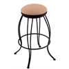 "Holland Bar Stool Co. 3000 Georgian 30"" Bar Stool with Black Wrinkle Finish, Axis Summer Seat, and 360 swivel"