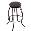 "Holland Bar Stool Co. 3000 Georgian 30"" Bar Stool with Black Wrinkle Finish, Axis Truffle Seat, and 360 swivel"