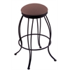 "Holland Bar Stool Co. 3000 Georgian 25"" Counter Stool with Black Wrinkle Finish, Axis Willow Seat, and 360 swivel"