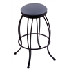"Holland Bar Stool Co. 3000 Georgian 30"" Bar Stool with Black Wrinkle Finish, Rein Bay Seat, and 360 swivel"