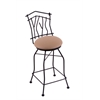 "3010 Aspen 25"" Counter Stool with Black Wrinkle Finish, Allante Beechwood Seat, and 360 swivel"