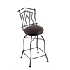 "3010 Aspen 30"" Bar Stool with Black Wrinkle Finish, Allante Espresso Seat, and 360 swivel"