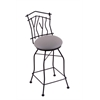 "3010 Aspen 30"" Bar Stool with Black Wrinkle Finish, Allante Medium Grey Seat, and 360 swivel"