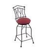 "Holland Bar Stool Co. 3010 Aspen 30"" Bar Stool with Black Wrinkle Finish, Allante Wine Seat, and 360 swivel"