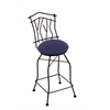 "3010 Aspen 30"" Bar Stool with Black Wrinkle Finish, Axis Denim Seat, and 360 swivel"