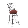 "Holland Bar Stool Co. 3010 Aspen 30"" Bar Stool with Black Wrinkle Finish, Axis Paprika Seat, and 360 swivel"