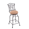"Holland Bar Stool Co. 3010 Aspen 30"" Bar Stool with Black Wrinkle Finish, Axis Summer Seat, and 360 swivel"