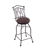 "3010 Aspen 30"" Bar Stool with Black Wrinkle Finish, Axis Truffle Seat, and 360 swivel"