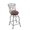 "3010 Aspen 30"" Bar Stool with Black Wrinkle Finish, Axis Willow Seat, and 360 swivel"