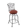 "Holland Bar Stool Co. 3010 Aspen 25"" Counter Stool with Black Wrinkle Finish, Rein Adobe Seat, and 360 swivel"