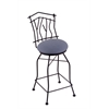 "3010 Aspen 30"" Bar Stool with Black Wrinkle Finish, Rein Bay Seat, and 360 swivel"