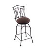 "Holland Bar Stool Co. 3010 Aspen 30"" Bar Stool with Black Wrinkle Finish, Rein Coffee Seat, and 360 swivel"