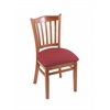 "3120 18"" Chair with Medium Finish, Allante Wine Seat"