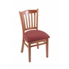 "3120 18"" Chair with Medium Finish, Axis Paprika Seat"