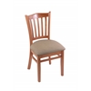 "Holland Bar Stool Co. 3120  18"" Chair with Medium Finish, Rein Thatch Seat"