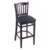 "Holland Bar Stool Co. 3120  25"" Stool with Black Finish, Allante Dark Blue Seat"