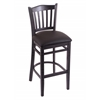 "Holland Bar Stool Co. 3120  25"" Stool with Black Finish, Allante Espresso Seat"