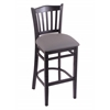 "Holland Bar Stool Co. 3120  25"" Stool with Black Finish, Allante Medium Grey Seat"