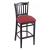 "Holland Bar Stool Co. 3120  25"" Stool with Black Finish, Allante Wine Seat"
