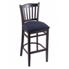 "Holland Bar Stool Co. 3120  25"" Stool with Black Finish, Axis Denim Seat"