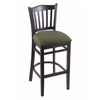 "Holland Bar Stool Co. 3120  25"" Stool with Black Finish, Axis Grove Seat"