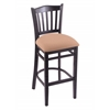 "Holland Bar Stool Co. 3120  25"" Stool with Black Finish, Axis Summer Seat"