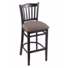"3120 25"" Stool with Black Finish, Axis Truffle Seat"