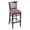 "Holland Bar Stool Co. 3120  25"" Stool with Black Finish, Axis Willow Seat"