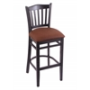 "Holland Bar Stool Co. 3120  25"" Stool with Black Finish, Rein Adobe Seat"