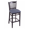 "Holland Bar Stool Co. 3120  25"" Stool with Black Finish, Rein Bay Seat"