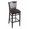 "Holland Bar Stool Co. 3120  30"" Stool with Black Finish, Rein Coffee Seat"