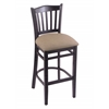 "Holland Bar Stool Co. 3120  25"" Stool with Black Finish, Rein Thatch Seat"