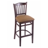 "Holland Bar Stool Co. 3120  25"" Stool with Dark Cherry Finish, Allante Beechwood Seat"