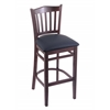 "3120 25"" Stool with Dark Cherry Finish, Allante Dark Blue Seat"