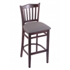 "Holland Bar Stool Co. 3120  25"" Stool with Dark Cherry Finish, Allante Medium Grey Seat"