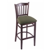 "3120 25"" Stool with Dark Cherry Finish, Axis Grove Seat"