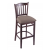 "3120 25"" Stool with Dark Cherry Finish, Axis Truffle Seat"